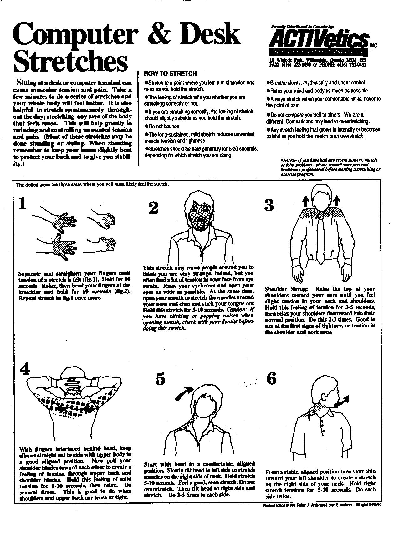 Exercises Pamphlets Body Soul Chiropractic